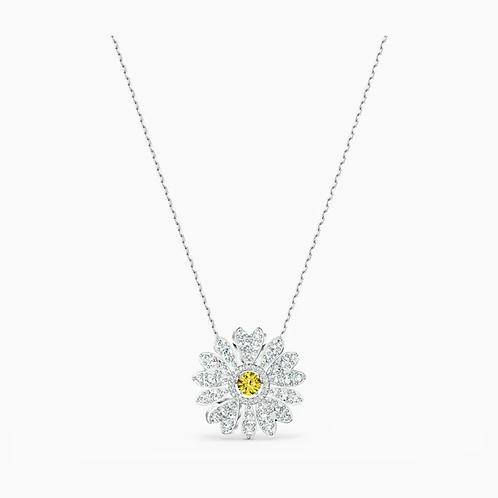 Pendente Eternal Flower, giallo, placcato rodio