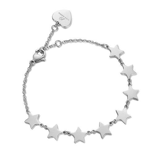 Bracciale in acciaio con stelle