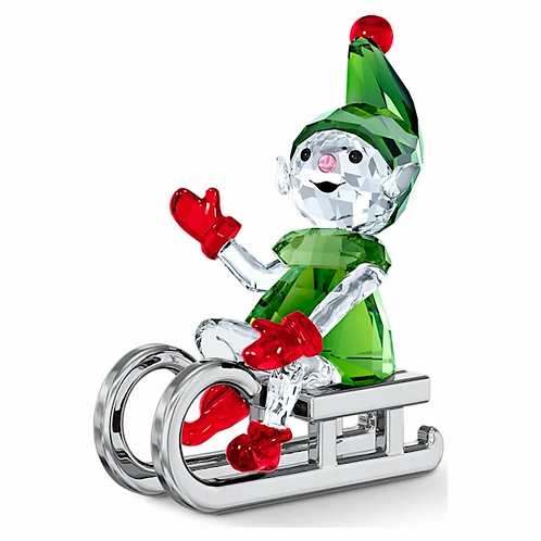 Elfo di Babbo Natale sulla Slitta