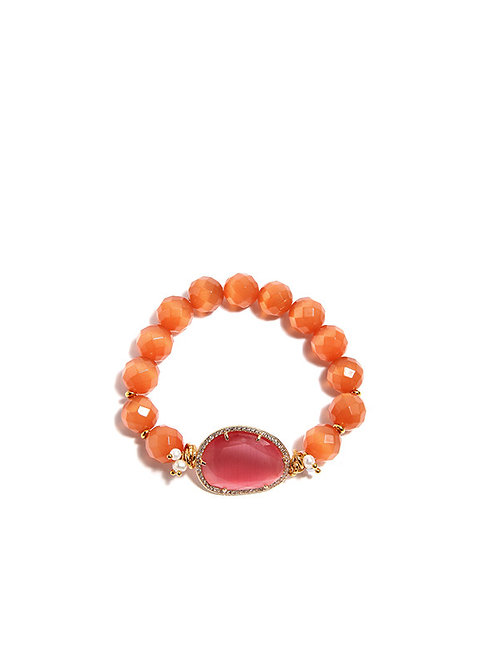 Bracciale quarzo orange