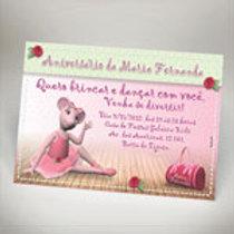 Convite da ANGELINA BALERINA - Convite ANGELINA BALERINA - Convite MENINA FESTAS
