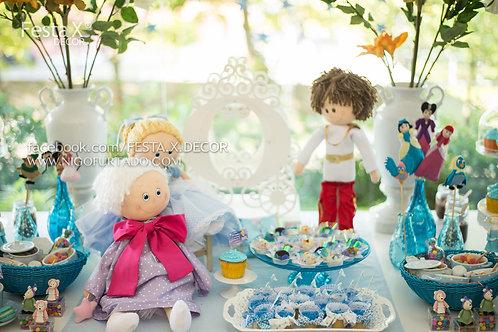 foto ilustrativa, boneco de pano príncipe para o tema cinderela, decoração