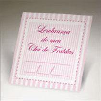 tag para chá de fraldas na cor rosa