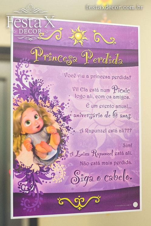 Cartaz PICNIC RAPUNZEL BABY PAPELARIA PERSONALIZADA EXCLUSIVA  TANGLED ENROLADOS