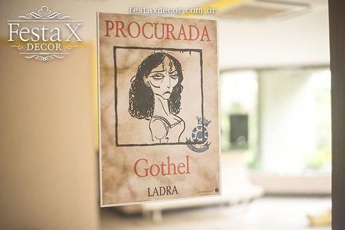Cartaz GOTHEL ~ RAPUNZEL PAPELARIA PERSONALIZADA TANGLED ENROLADOS