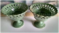 Taça vaso verde musgo