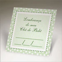 tag para chá de bebê cor verde, festas