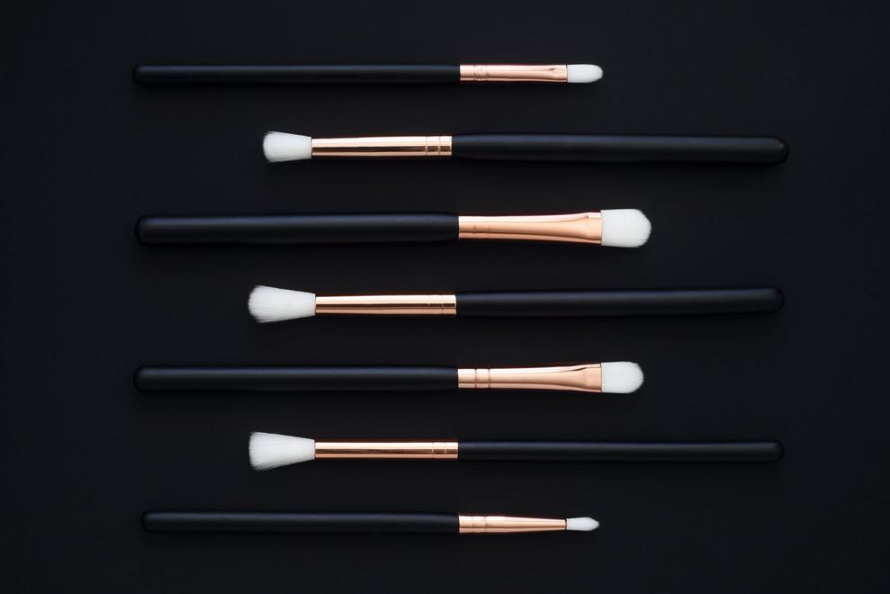 Rose MakeUp Brushes