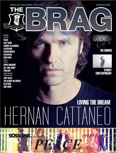 FRONT COVER of THE BRAG Magazine