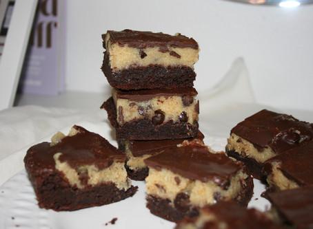 Brownie Cookie Dough Crack Bars (Paleo & Vegan)