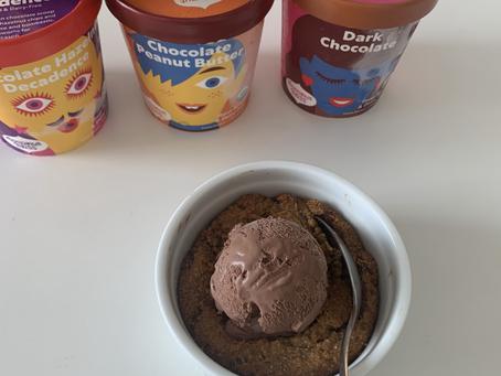 Single Serve Chocolate Chip Cookie Cake (paleo, vegan, + oil free)