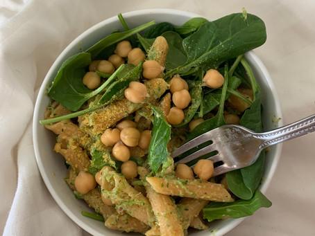 Hummus Veggie Pasta (vegan + gf)
