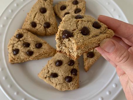 Chocolate Chip Oat Flour Scones (Gf, Vegan, & Nut free)