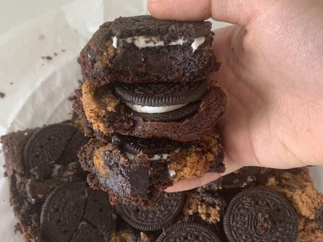 Healthier Slutty Brownies (vegan + gf)