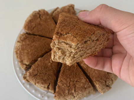 Cinnamon Sugar Scones (vegan, nut free, + gf)