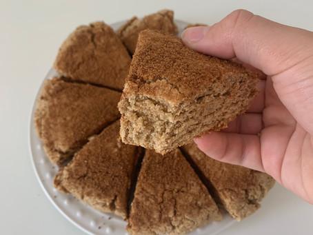 Cinnamon Sugar Scones (vegan, nut free, + gf)