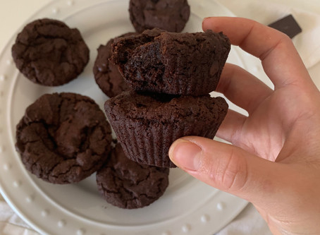 Double Chocolate Brownie Muffins (Paleo, Nut Free, & Vegan)