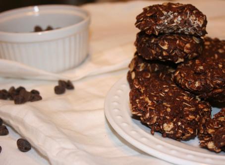 Healthy No Bake Chocolate Salted Caramel Cookies (Gf & Vegan)