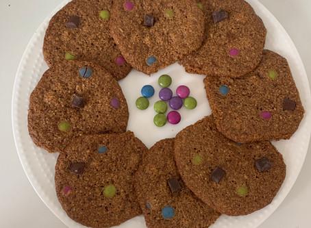 Healthy Monster Cookies (Vegan, Gf, & Nut-free)