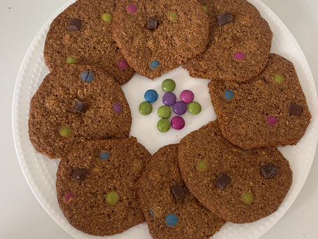 Healthy Monster Cookies (Vegan, Gf, & Nut-free)