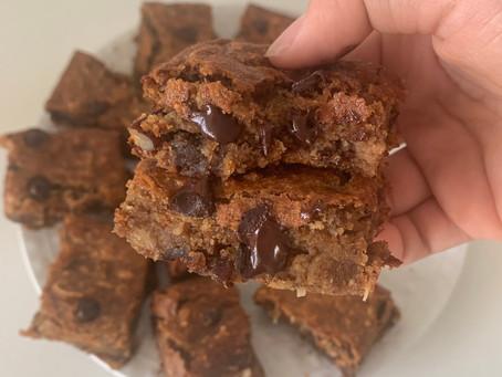 Coconut Chocolate Chip Pecan Bars (Paleo & Vegan)