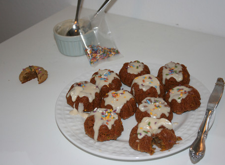 Healthy Birthday Cake Bundts (Paleo & Vegan)