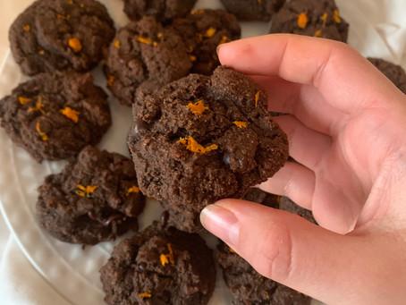 Double Chocolate Orange Cookies (paleo + vegan)