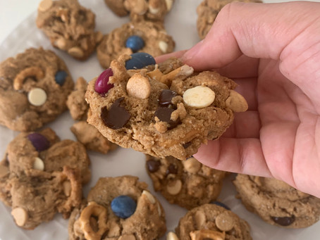 Healthy Kitchen Sink Cookies (vegan + gf)