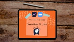 PROCREATE BASICS | CONNECTING TO ZOOM