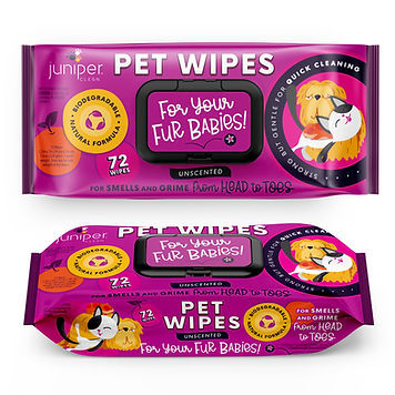 Pet Wet Wipes 72 CT Biodegreadable