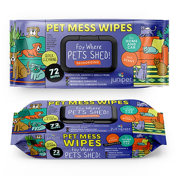 Pet Wet Wipes  For Mess 72 CT