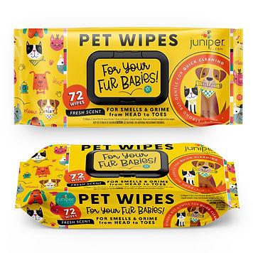 Pet Wet Wipes 72 CT