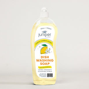 Juniper Clean Dish Washing Soap Lemon Flower Scented Private Label Manufacturer Producers Household Cleaners