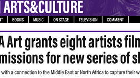 The National News. Mena Arts grants eight artists film commissions for new series of shorts