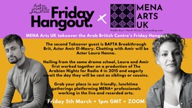 Newsletter 16 - Laura Hanna chatting with Amir El- Masry, plus loads of job opportunities 01.03.21