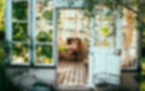 old blue door & grren hone.jpg