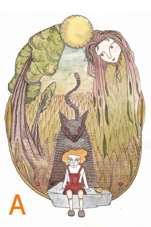 Pohlednice - ilustrace z knížky Povídánky pod hrušní