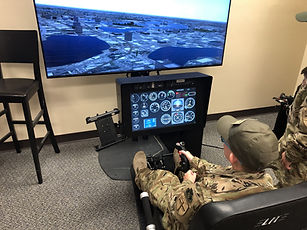 Eagle Cadets experience C-130 H Simulator at ITSEC 2018 at the  AIR NATIONAL GUARD Pavilion