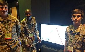Teens in Military Suit