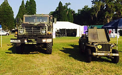 Military truck and jeep