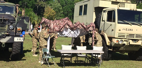 Eagle AMA Cadets setup Camp at Sun N Fun 2016
