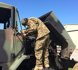 Military Fixing hummer truck