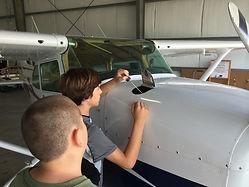Fixing airplane engine