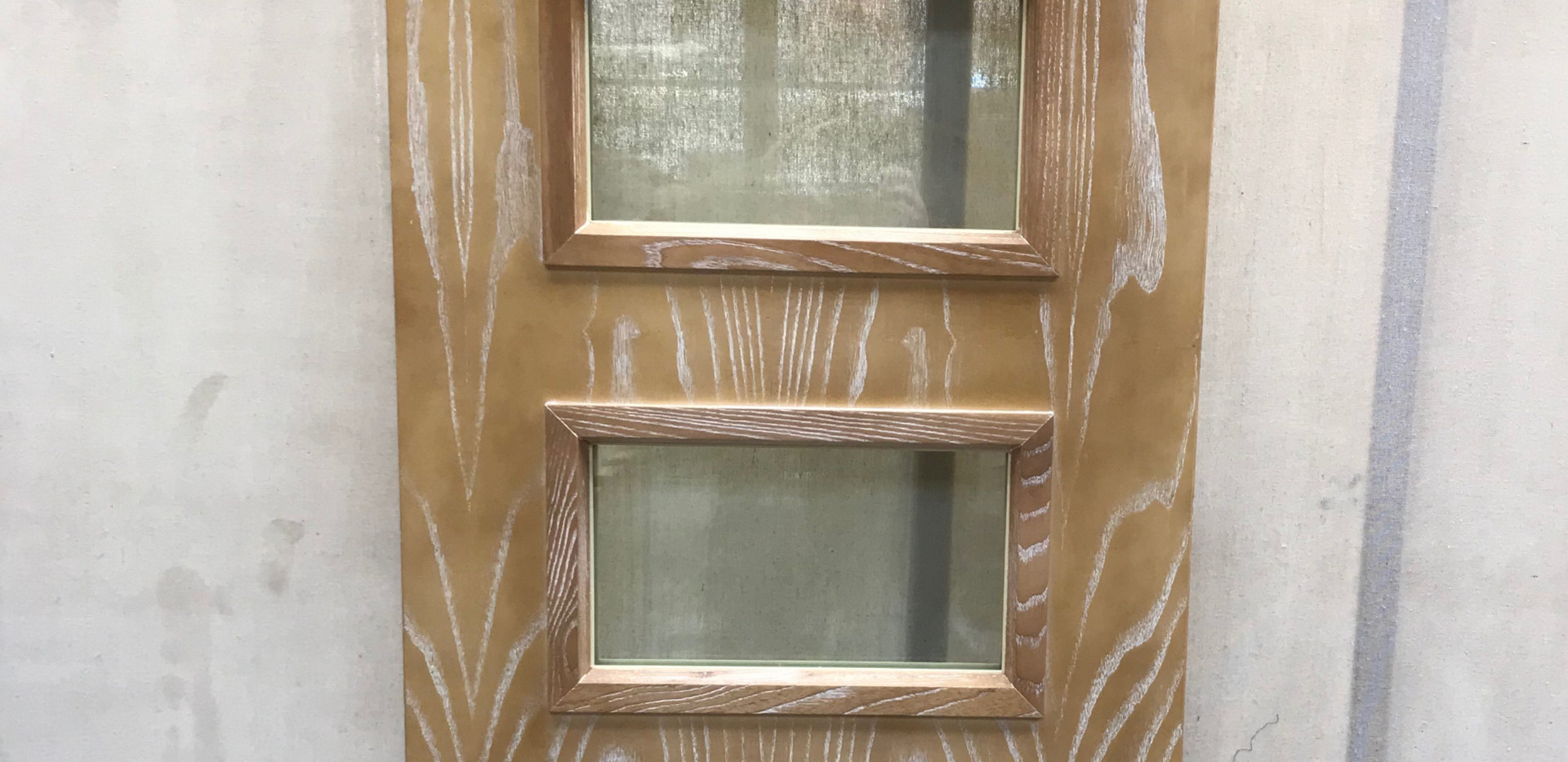 Lime Wash Fire Door with Windows