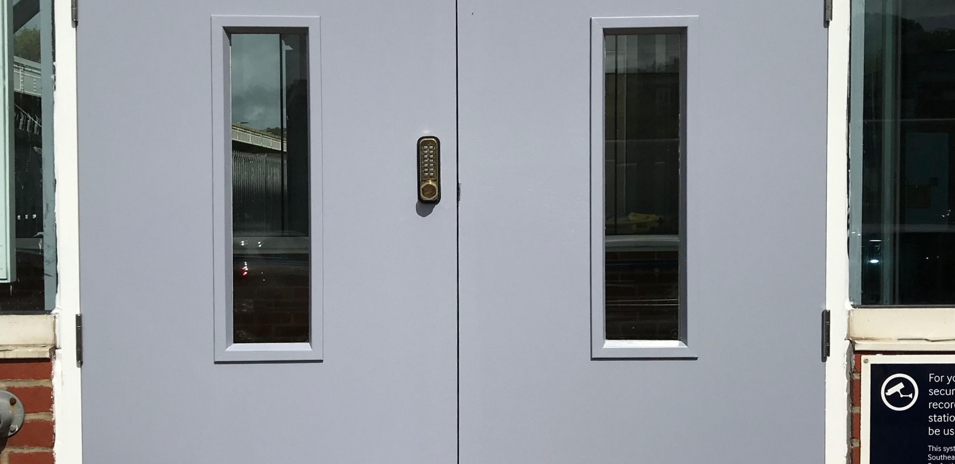 Hastings train station door with digilocks