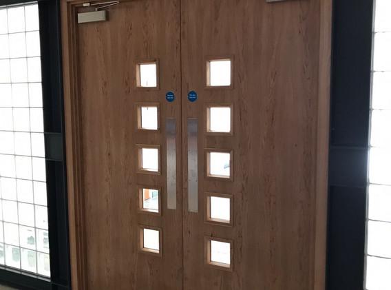 Military double doors