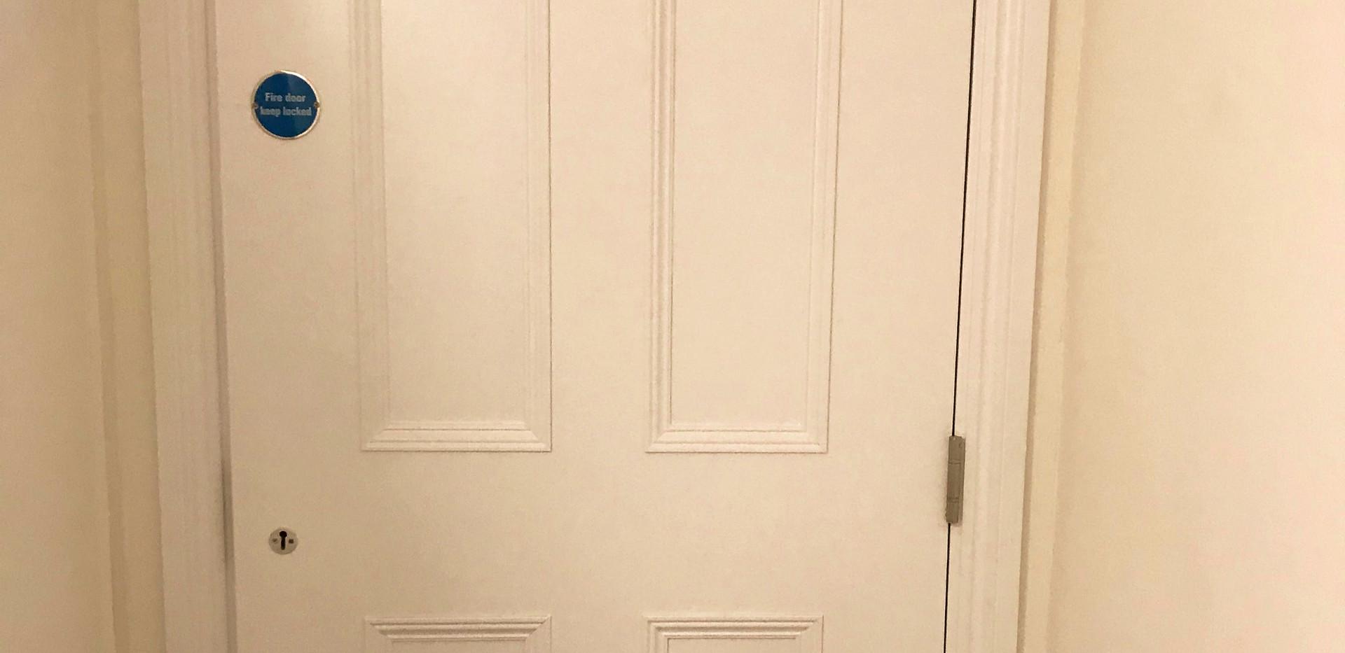 Fire door that looks like an average door
