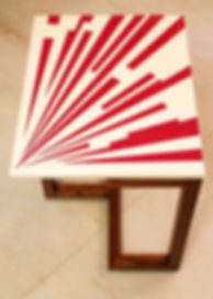 Ray burst side table