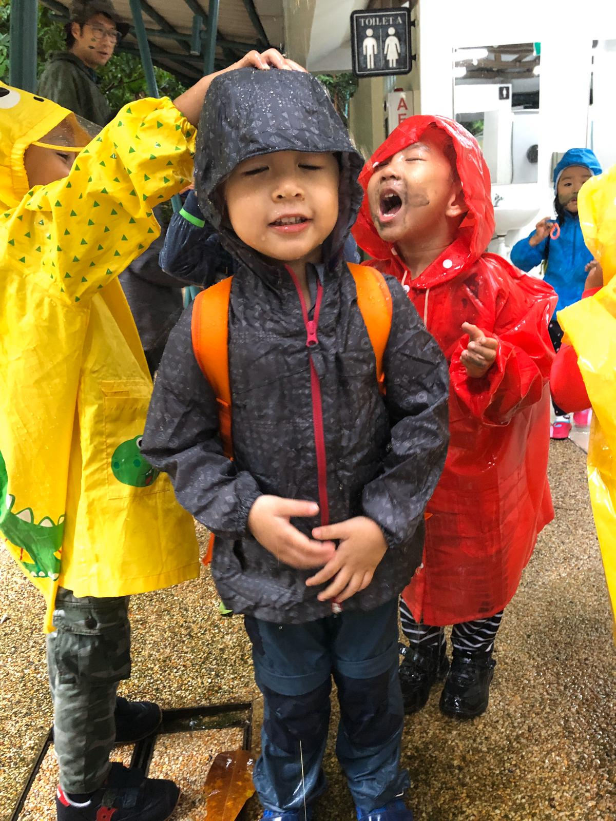 Playing in the rain!