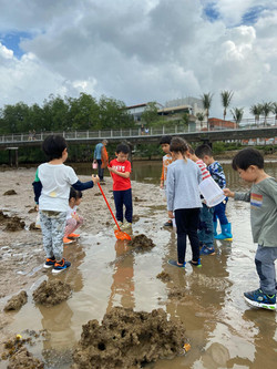 Exploring the intertidal mud flats